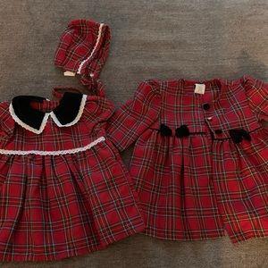 Baby Girls 3pc  Dress Set